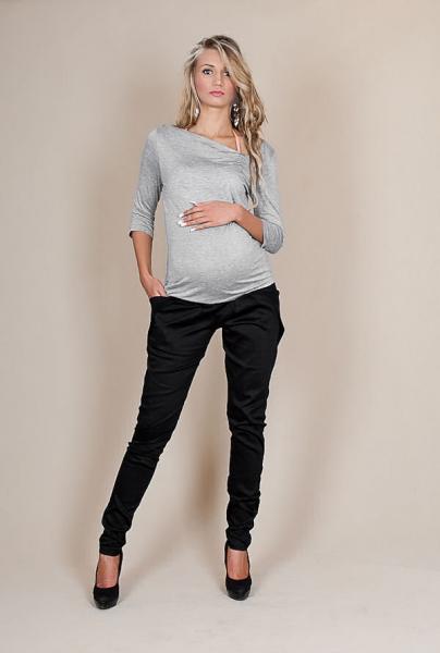 Be MaaMaa Těhotenské kalhoty ALADINKY  - Černé