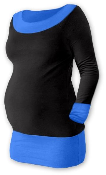 Těhotenska tunika DUO - černá/modrá, Velikost: L/XL