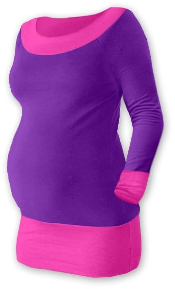 Těhotenska tunika DUO - fialová/růžová, Velikost: S/M
