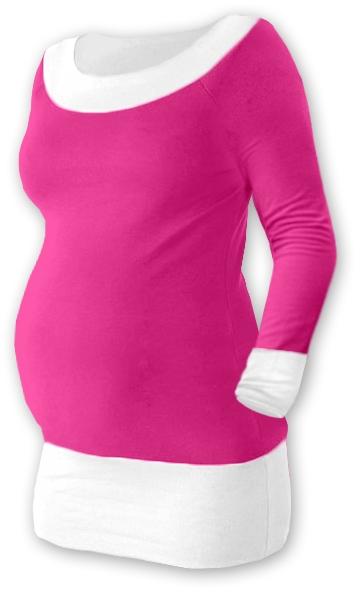 Těhotenska tunika DUO - růžová/bílá, Velikost: S/M
