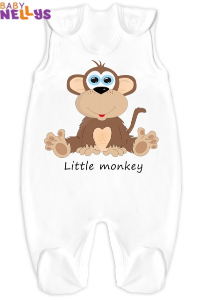 Dupačky Little Monkey - bílé