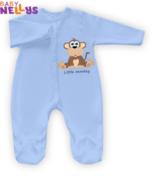 Overálek Little Monkey Baby Nellys - modrý