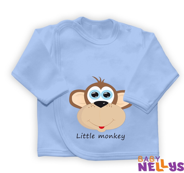 Košilka se zap. na boku Little Monkey, modrá