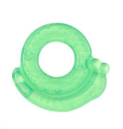 BabyOno Kousátko gelové  Šnek - zelené