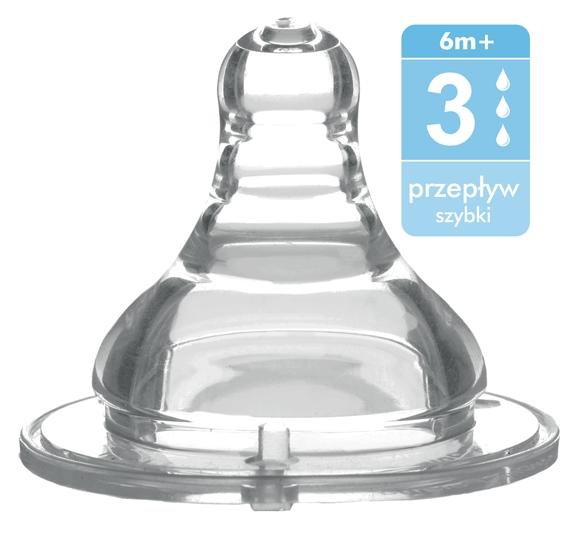 BabyOno Antikoliková širokootvorová savička - 6m+
