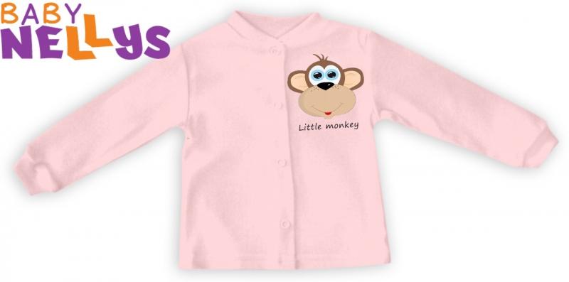 Baby Nellys Košilka Little Monkey - růžová