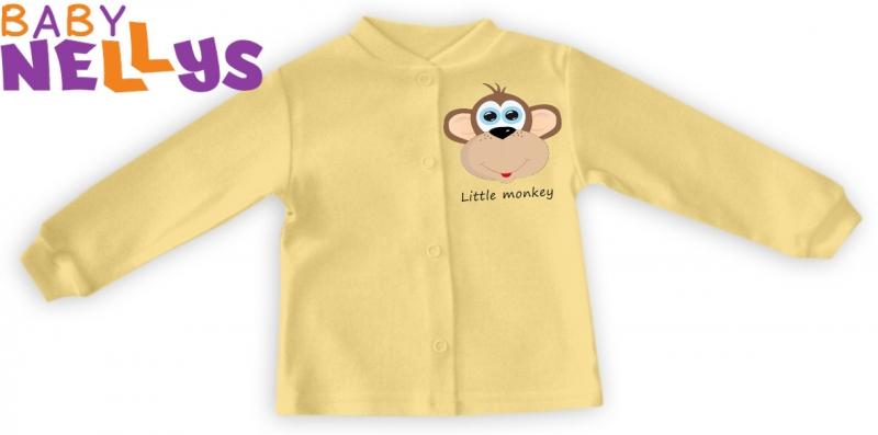 Košilka Little Monkey - krémová/žlutá, Velikost: 80 (9-12m)
