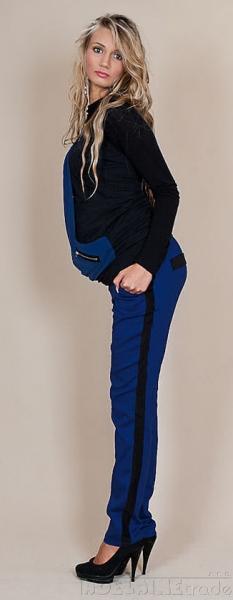 Be MaaMaa Těhotenské kalhoty Karolina - Modré