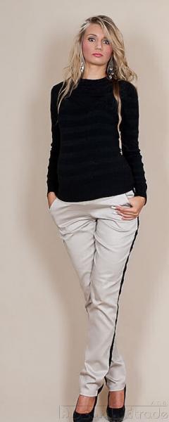 Be MaaMaa Těhotenské kalhoty Karolina - béžovével. L (40)