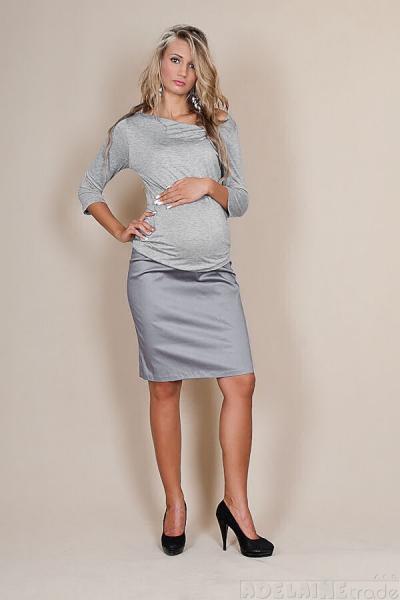 Těhotenské sukně Melanie - šedý popílek