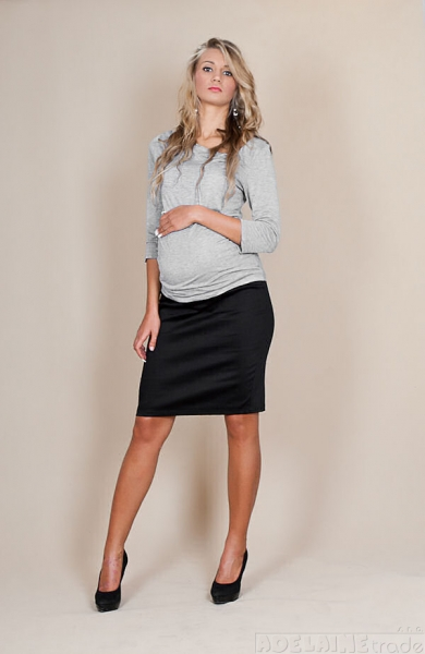 Těhotenské sukně Melanie - černá, Velikost: XS