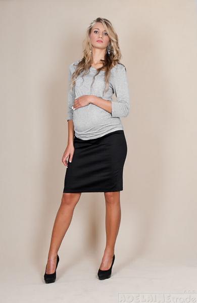 Těhotenské sukně Melanie - černá, Velikost: XL