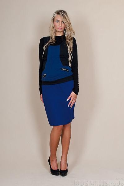Be MaaMaa Těhotenské sukně Melanie - modrá