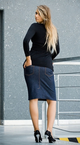 Be MaaMaa Těhotenské sukně SARA - modrá