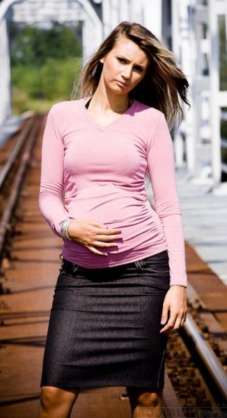 Těhotenské sukně SARA - black