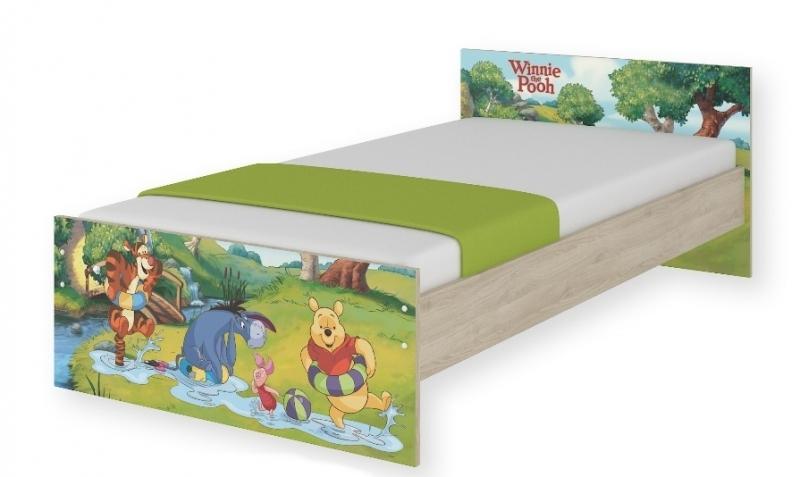 BabyBoo Dětská junior postel Disney 180x90cm - Medvídek PÚ a kouzelný les, D19