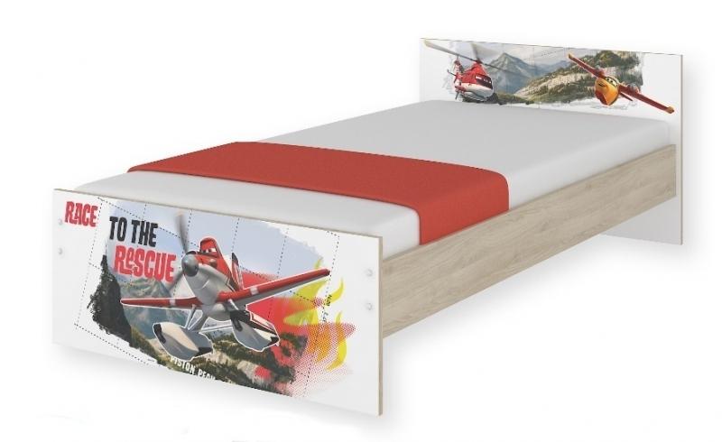 BabyBoo Dětská junior postel Disney 180x90cm - Letadla, D19