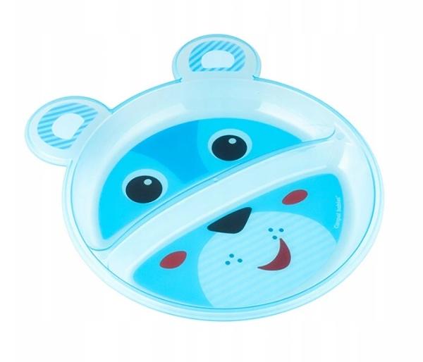 Canpol babies Plastový talířek dvoukomorový - Medvídek