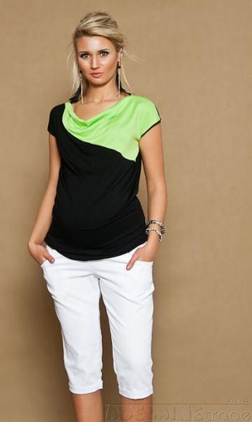 Těhotenské JEANS 3/4  - bílé, Velikost: XL