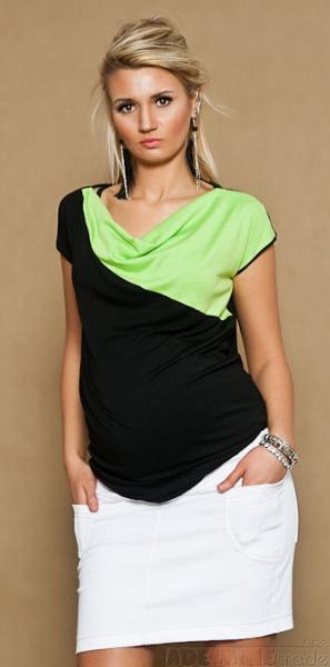 Těhotenské džínsová sukně JOANA - bílá