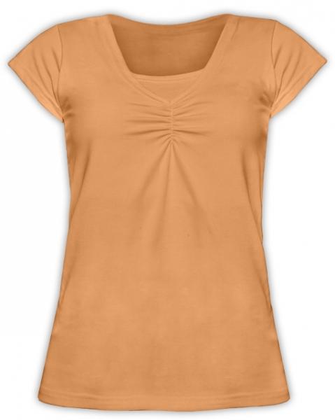 JOŽÁNEK Kojící,těhotenské triko KARIN - oranžové