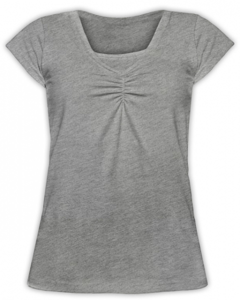 JOŽÁNEK Kojící,těhotenské triko KARIN - šedý melír