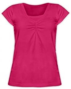 JOŽÁNEK Kojící,těhotenské triko KARIN - sytě růžové