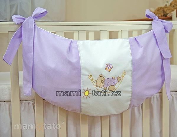 Luxusní kapsář na hračky - Houpačka lila