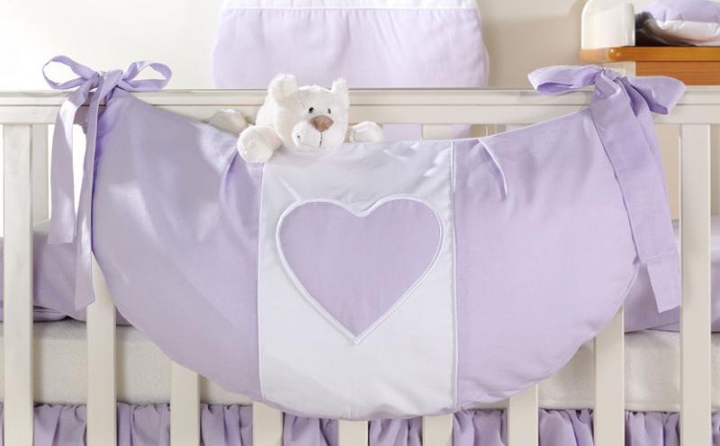 Luxusní kapsář na hračky - Srdíčko lila