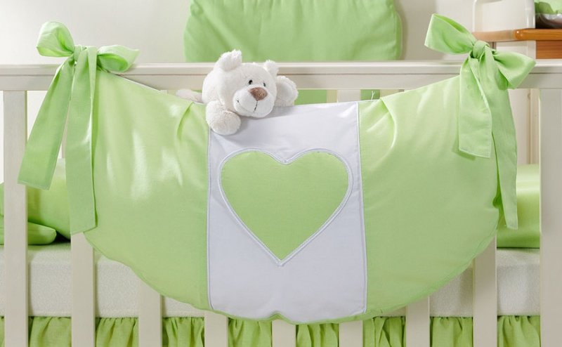 Luxusní kapsář na hračky - Srdíčko zelené