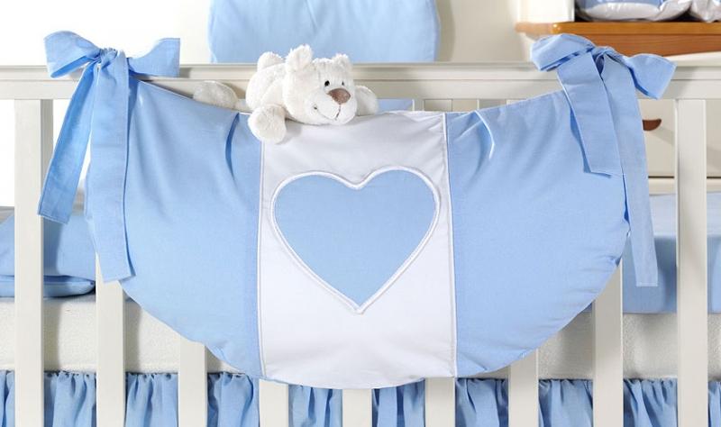 Luxusní kapsář na hračky - Srdíčko modré