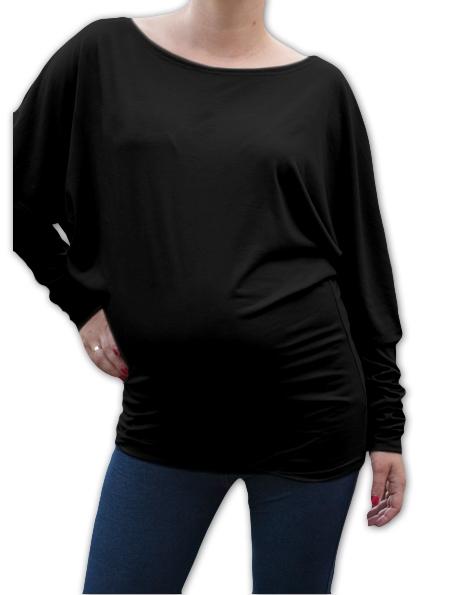 Be MaaMaa Symetrická těhotenská tunika - černá