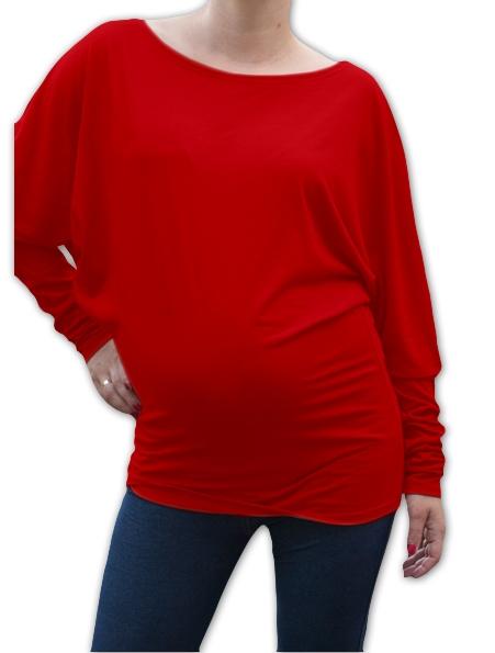 Symetrická těhotenská tunika - červená