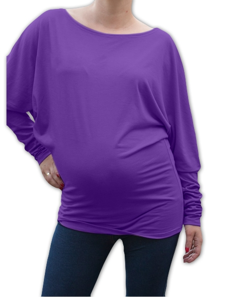 Symetrická těhotenská tunika - fialová