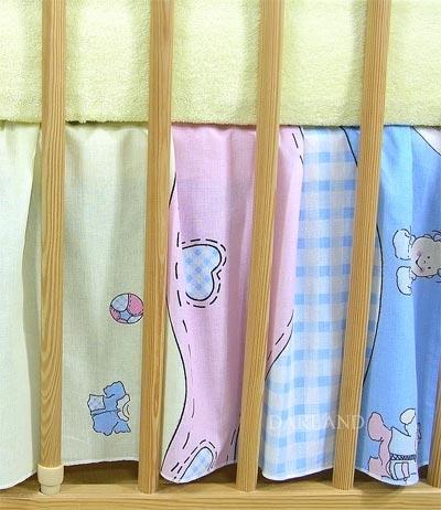 VÝPRODEJ Krásný volánek pod matraci - Čáp modrý
