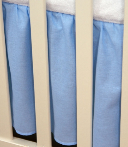 Mamo Tato Krásný volánek pod matraci - Srdíčko modré