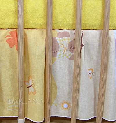 VÝPRODEJ Krásný volánek pod matraci - Motýlek krémový