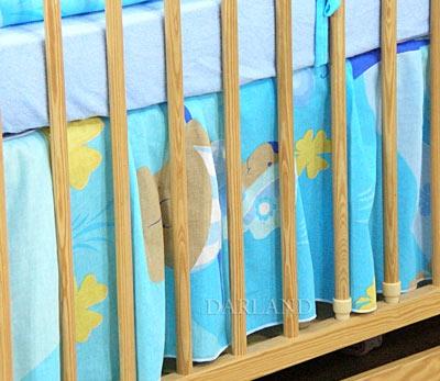 VÝPRODEJ Krásný volánek pod matraci - Motýlek modrý, Velikost: 120x60