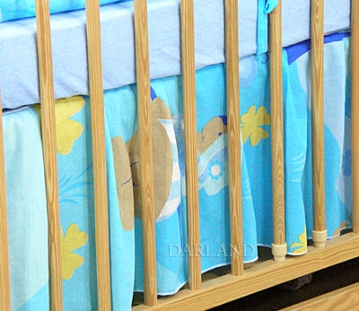VÝPRODEJ Krásný volánek pod matraci - Motýlek modrý