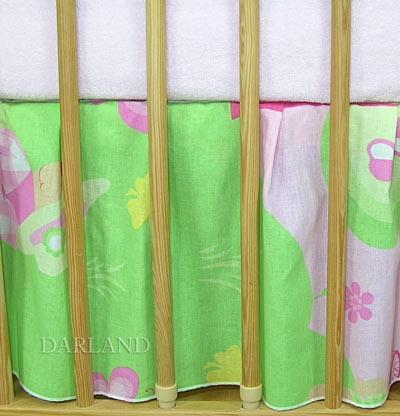 VÝPRODEJ Krásný volánek pod matraci - Motýlek růžový, Velikost: 120x60