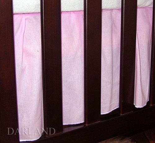 Krásný volánek pod matraci - Srdíčko růžové