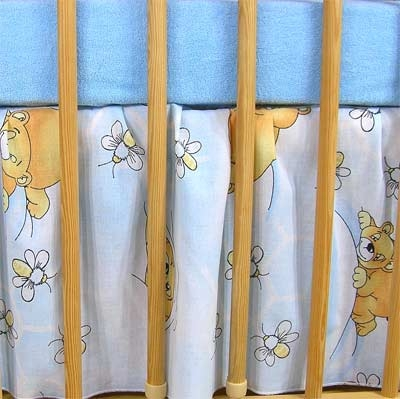 Darland VÝPRODEJ Krásný volánek pod matraci - Včelka modrá, Velikost: 120x90
