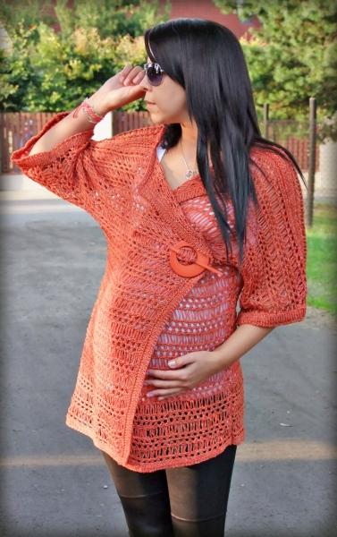 Svetřík Shapira nejen pro těhotné - pomeranč/cihla