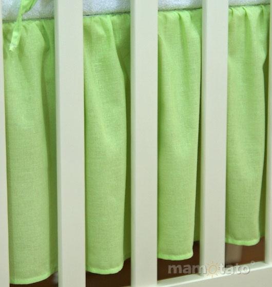 Krásný volánek pod matraci - Srdíčko zelené