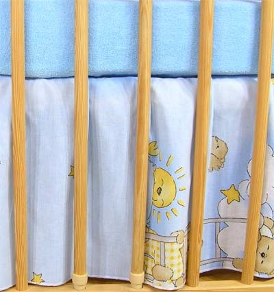 Krásný volánek pod matraci - Žebřík modrý