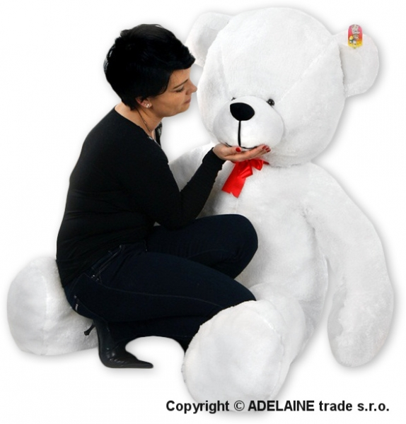 Plyšový Medvěd Baby Nellys - Bílý - 180cm - Plyšový Medvěd Baby Nellys - vel. 180cm, Barva: Bílá