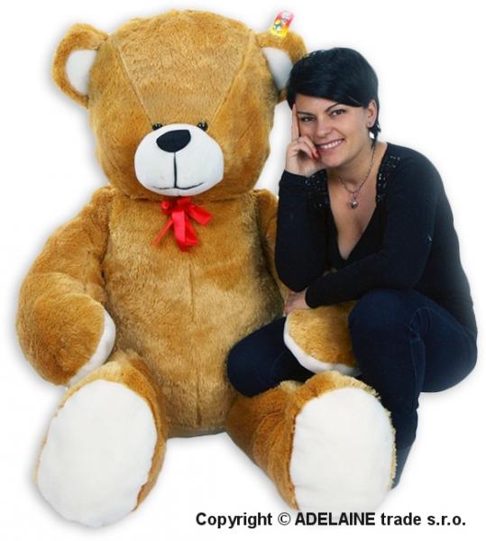 Plyšový Medvěd Baby Nellys - Sv. hnědý - 180cm - Plyšový Medvěd Baby Nellys - vel. 180cm, Barva: Sv. hnědá