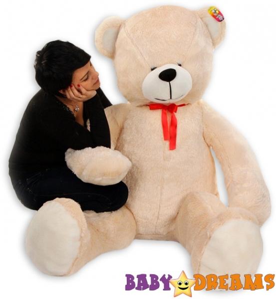 Plyšový Medvěd Baby Nellys - Smetanový - 180cm - Plyšový Medvěd Baby Nellys - vel. 180cm, Barva: Smetanová