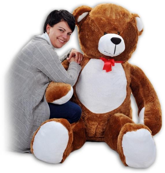 Plyšový Medvěd Baby Nellys - Tm. hnědá - 180cm - Plyšový Medvěd Baby Nellys - vel. 180cm, Barva: Tm. hnědá