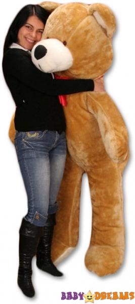 Plyšový Medvěd Baby Nellys - Hnědá - 175cm - Plyšový Medvěd Baby Nellys - vel. 175cm, Barva: Hnědá